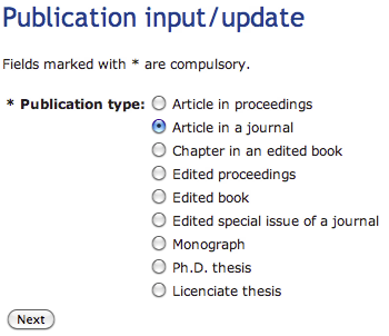 thesis publications